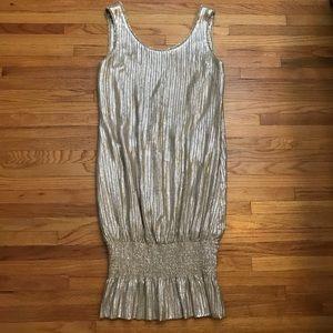 Zac Posen Metallic Dress Gold